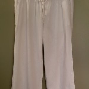 IOld Navy white wide leg linen pants Size s